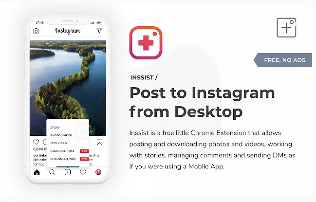 INSSIST Web Client for Instagram