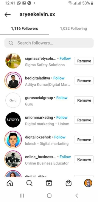 how to remove followers on instagram mobile