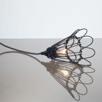 kelvin et lumen luminaires applique baladeuse déco abat-jour corolle métal cordon noir et blanc ampoule led chambre salle de bains véranda séjour entrée