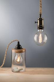 kelvin et lumen luminaires lampes à poser appliques cordon jute douille bakélite métal liège ampoule led chambre entrée séjour salon