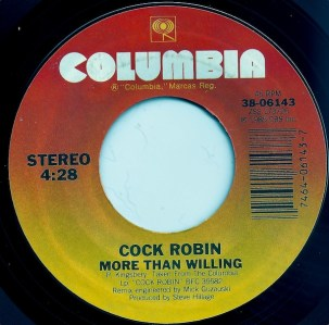 cock robin-more than willing