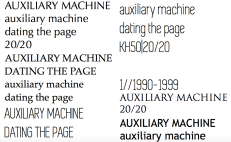 dating the page-type tests1