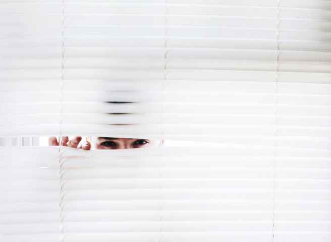 photography of person peeking