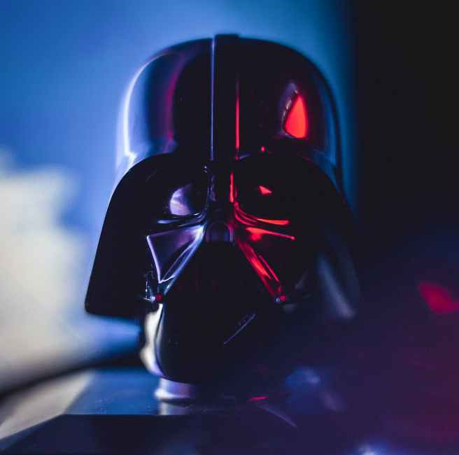 black and red star wars helmet