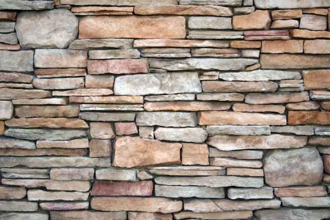red and gray brick wall