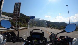 夏のバイク