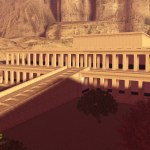 3D model of the Akh-sut-Amun temple of Dayr al-Bahri