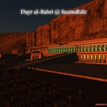 3D model of Dayr al-Bahri in early morning