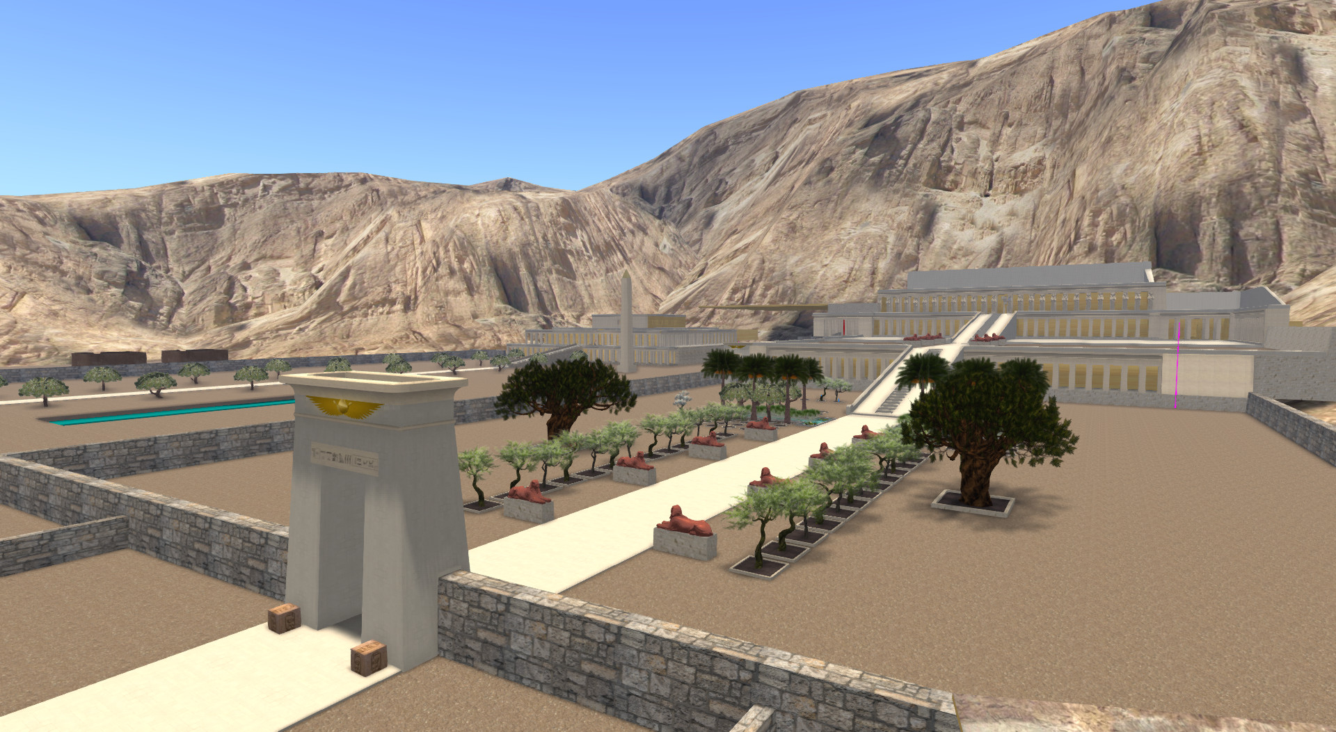3D model of Dayr al-Bahri in the construction phase