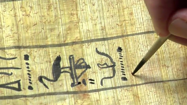 writing papyrus
