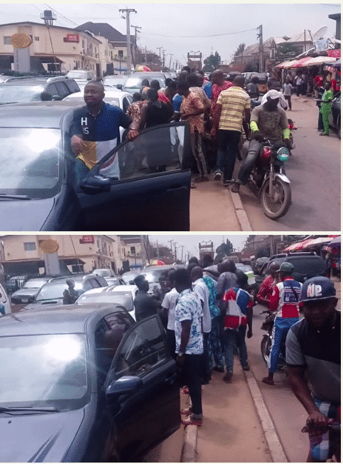 Self-driving car spotted somewhere in Nigeria causes commotion (photos) - Kemi Filani News