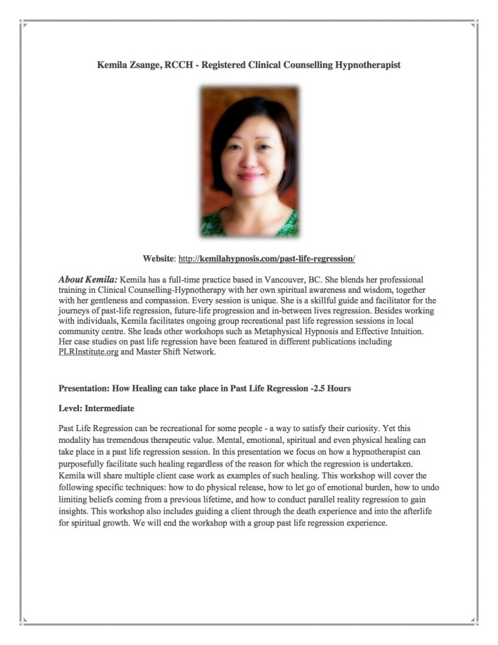 Counselling-Hypnotherapist Kemila Zsange