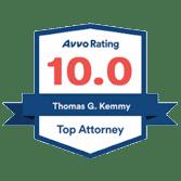Avvo 10 Rating Top Attorney Badge