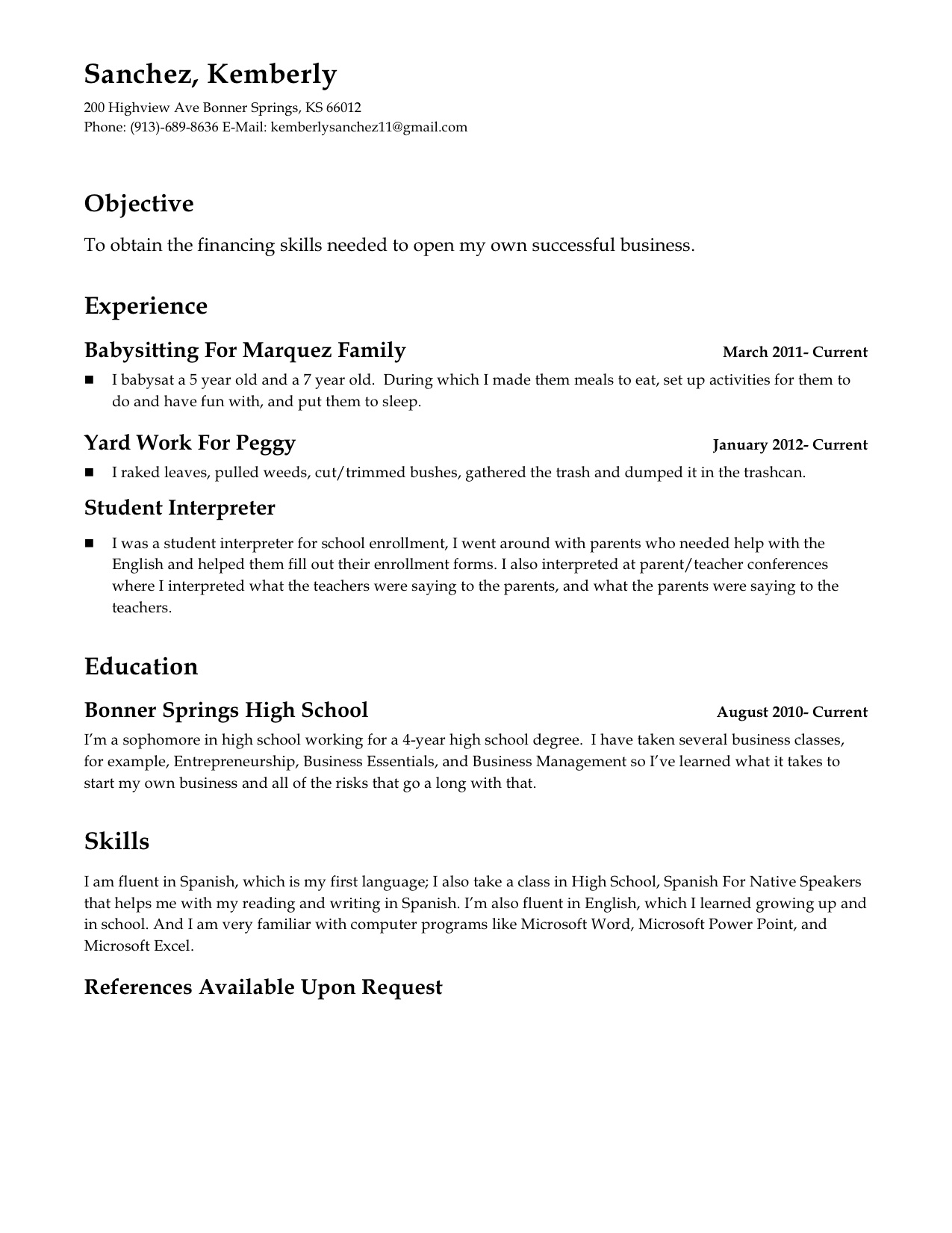 Supervisor Resume Examples 2012 Patrick Blog Catering Server Resumes