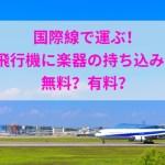 国際線で運ぶ!飛行機に楽器の持ち込みは無料?有料?