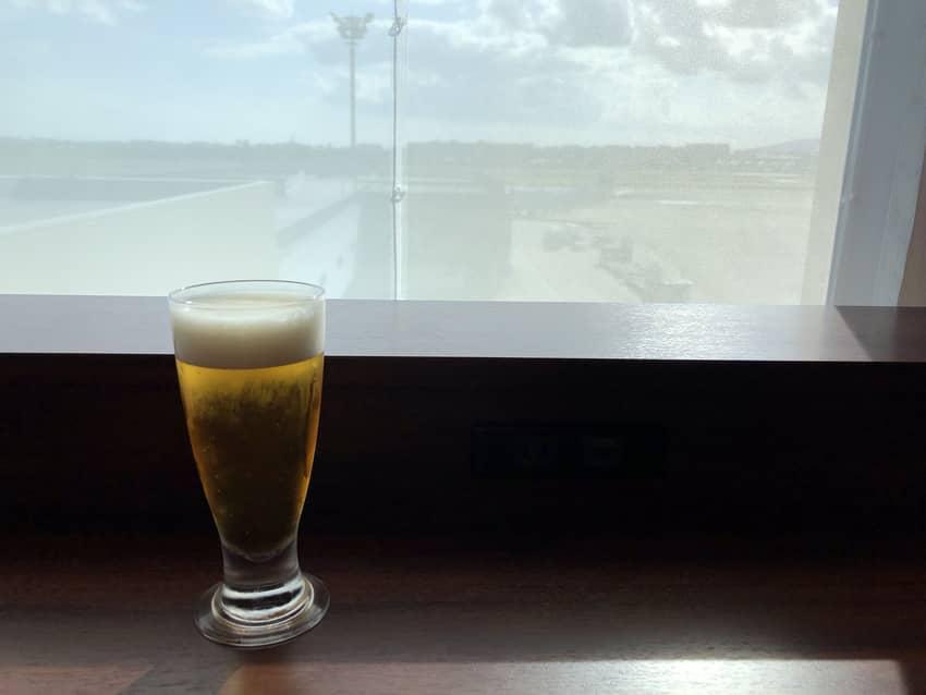 ダイヤモンド・プレミアラウンジのビール