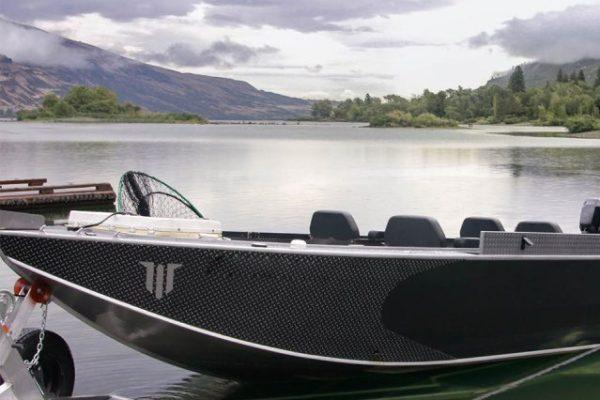 Powerboat used for Alaska King Salmon Fishing on the Kenai River