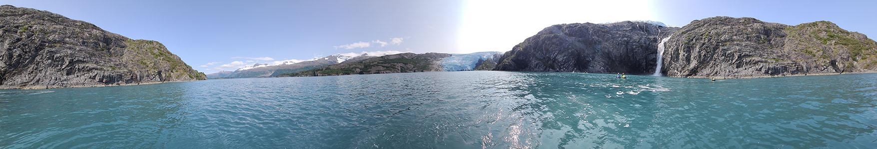 Contact Kenai Riverside Resort - Panoramic of Blackstone Glacier, Whittier Alaska