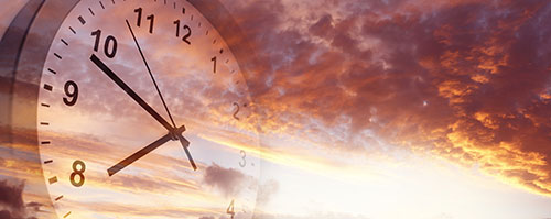 Skyscape and clock