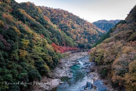View Of Hozugawa River From JR Hozukyo Station