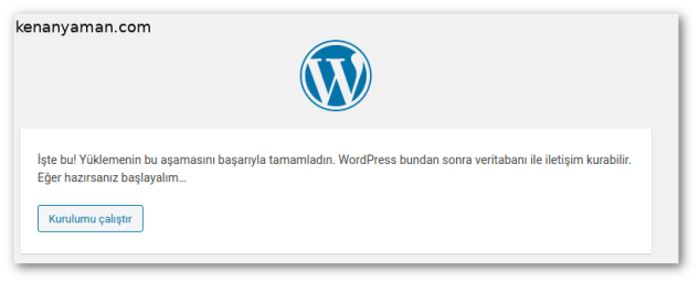 Wordpress database operations performed successfully