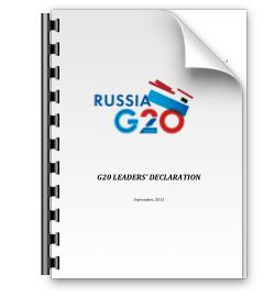 G20's 2013 Leader Declaration