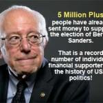 Bernie Sanders has Record Number of Contributors