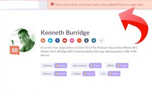 Klout-Blocking-Bernie-Sanders-Error