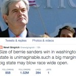 Bernie Gains Big Boost via Newt Gingrich?