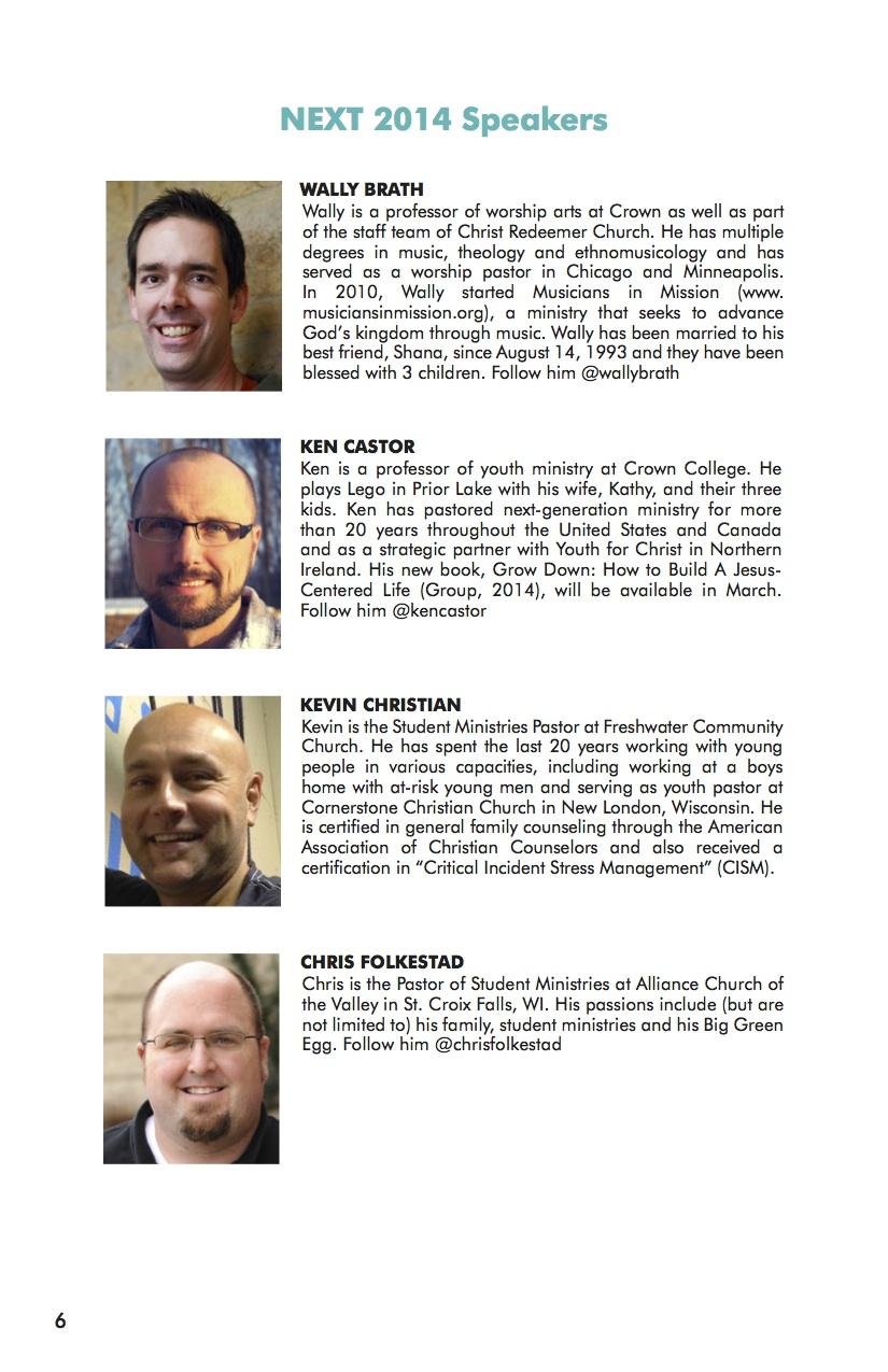 NEXT Conference 2014 Workbook Speaker 1