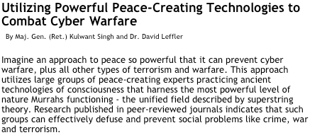 Powerful Peace-Creating Technologies