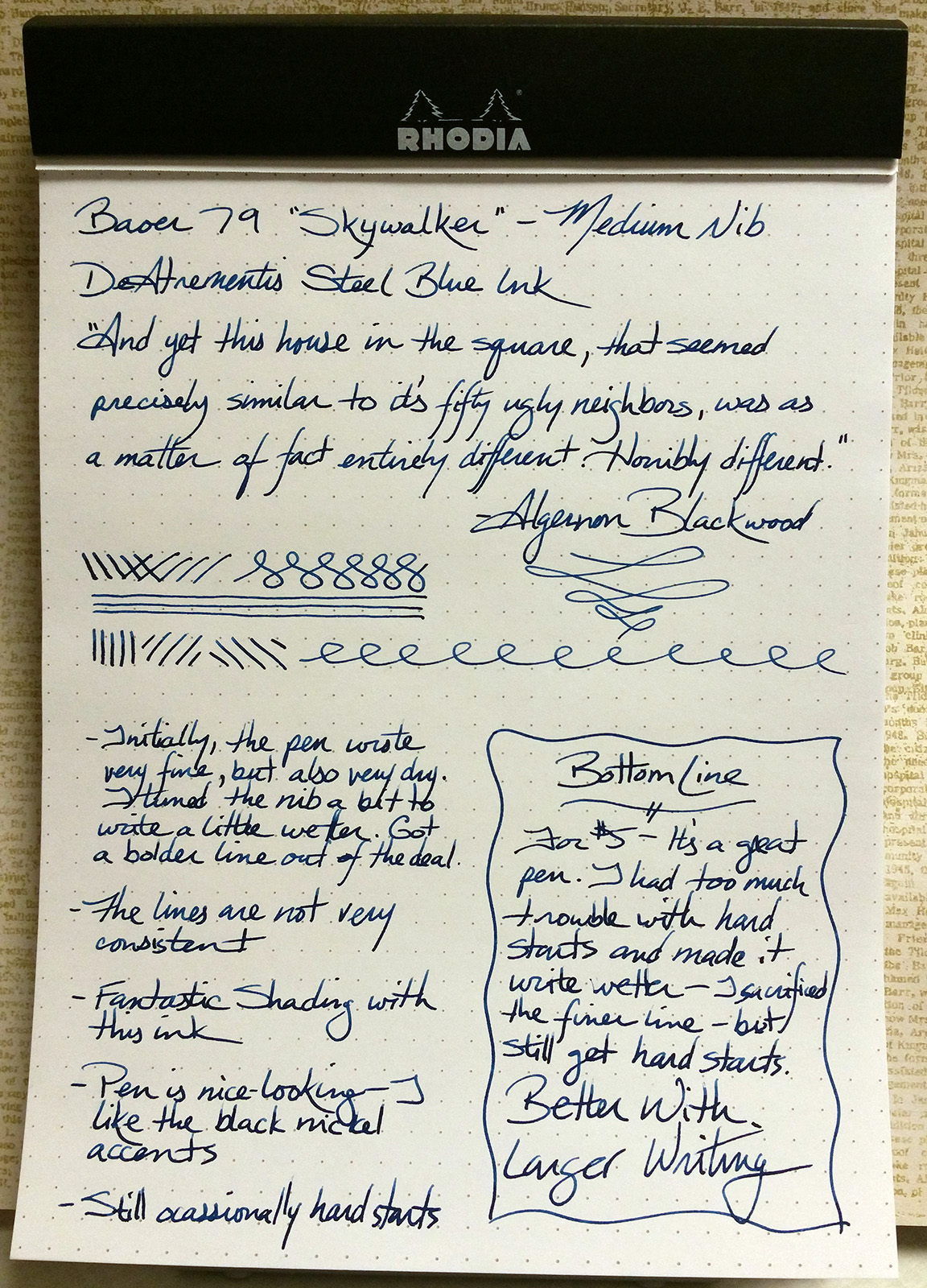 "Baoer 79 ""Skywalker"" Fountain Pen Writing Sample"