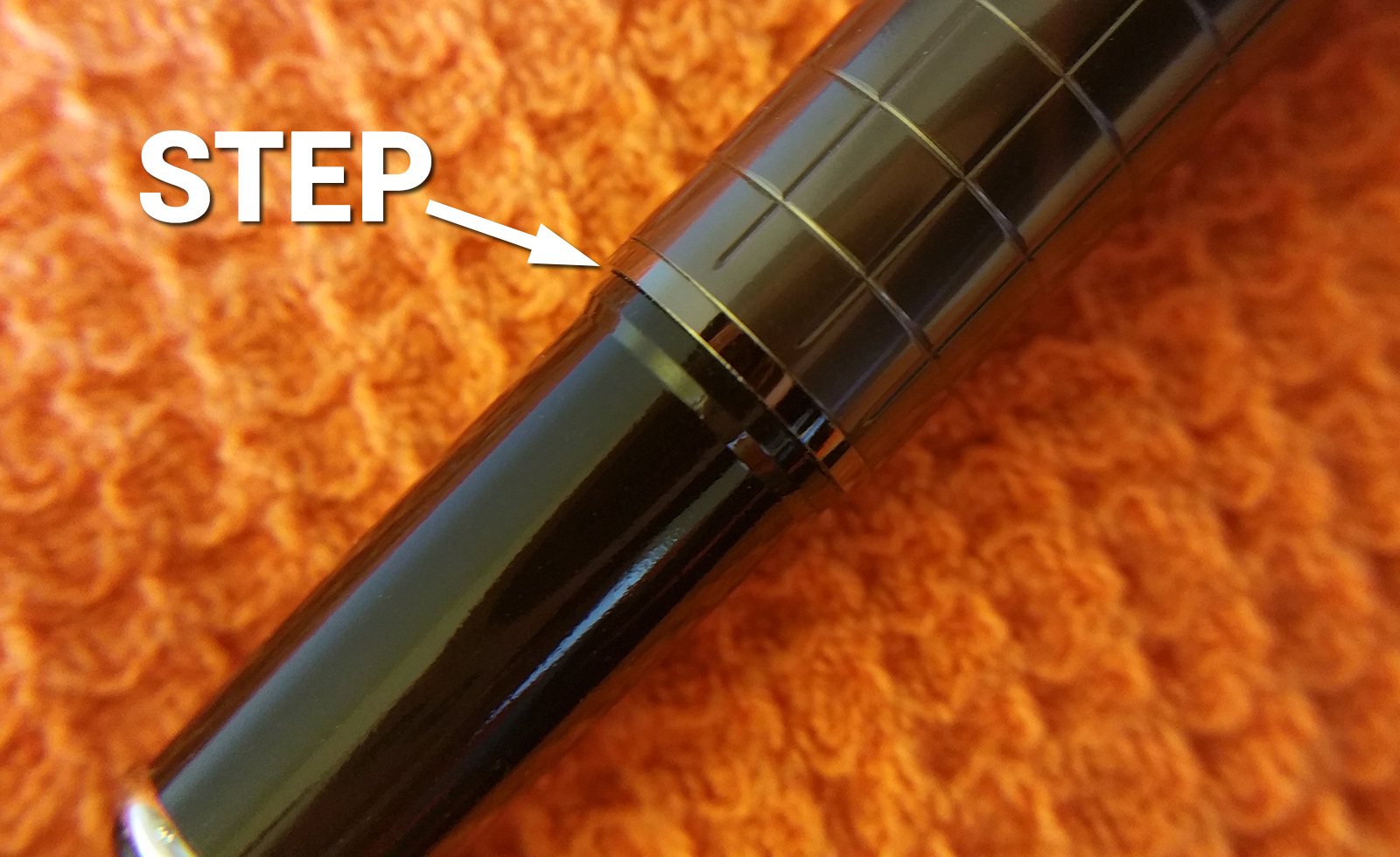 The Step of the Wing Sung 3203 Fountain Pen where the section meets the barrel