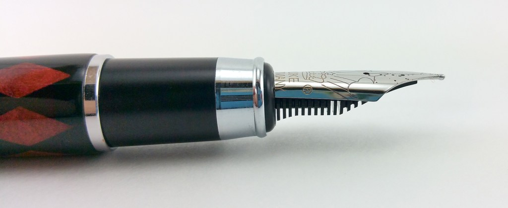 Duke 116 Fountain Pen, close-up of the Section, Nib, and Feed