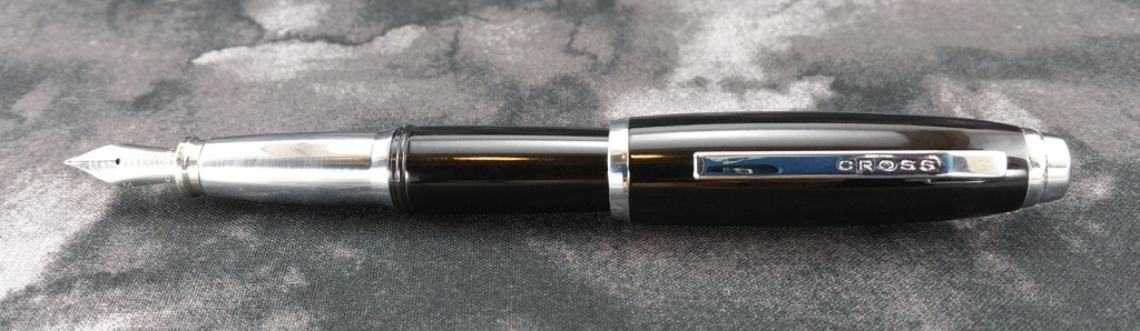 The Cross Dubai Fountain Pen when Posted...looks like the beach beefcake with the scrawny legs, doesn't it?