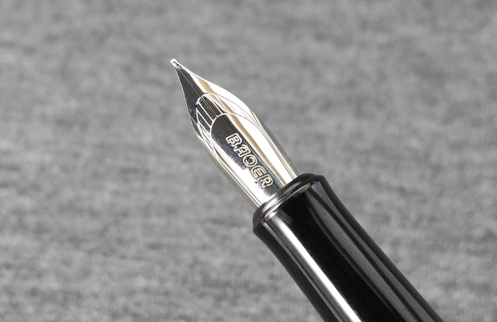 A close-up shot of the Baoer 508 Fountain Pen Nib