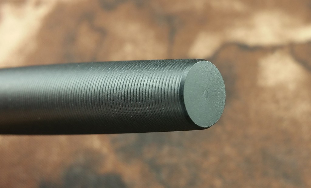 The end of the Tactile Turn Gist Fountain Pen Barrel