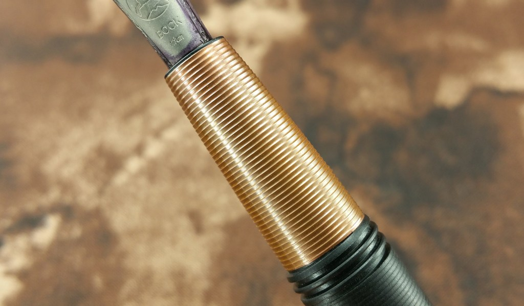 Tactile Turn Gist Fountain Pen Section, this one is copper...ain't it a beauty?