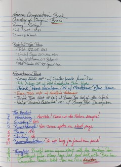 Full-Page Writing Sample from the Norcom Composition Book from Brazil, showing how well various rollerball and fountain pens work