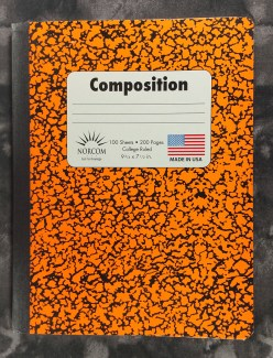 The cover of the Norcom Composition Book from the USA