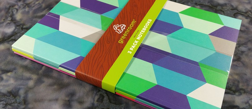 Greenroom Recycled Notebooks with Packaging