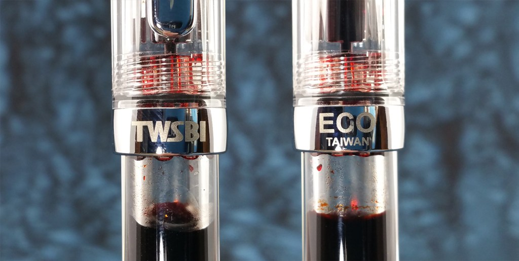 The front and back of the TWSBI Eco Fountain Pen cap band