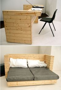 Two way sofa - desk