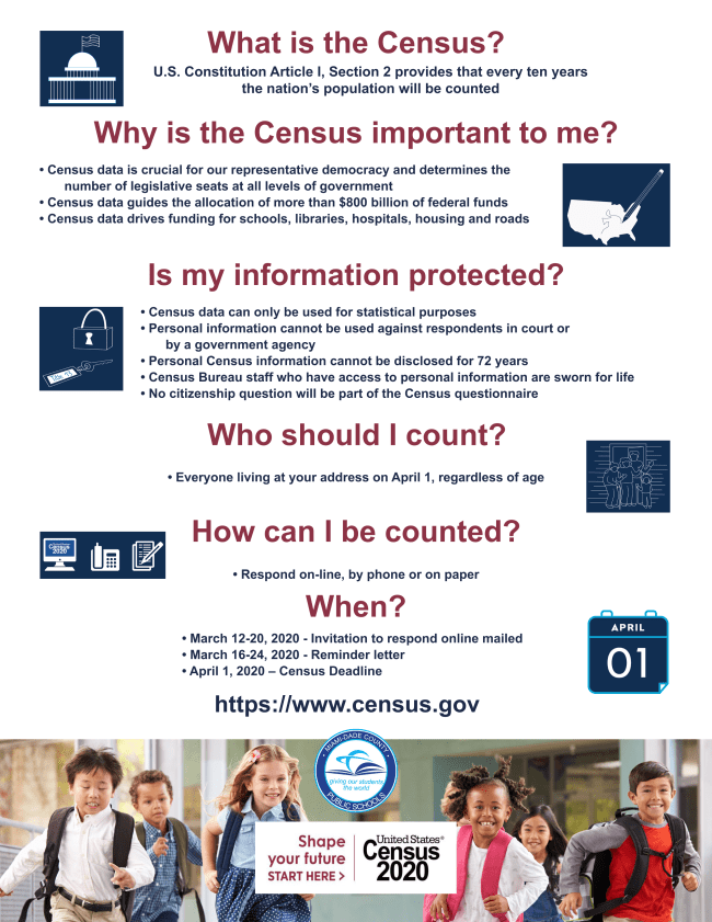 Census Information Sheet (colored) - English