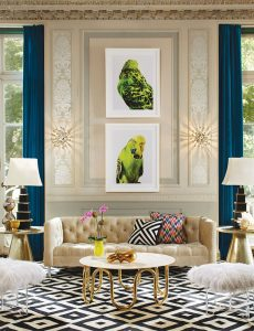 latest design living room 2018 white corner sofa the trends your top questions answered kendall an eclectic with millwork on walls and two large artworks featuring a