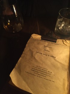 This menu is basically a BOOK full of whiskey options.