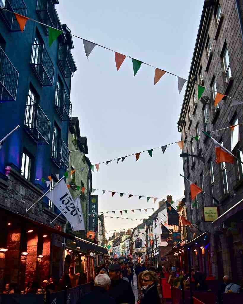 Galway, Ireland city street lined with Pubs Photo by KendellKreations