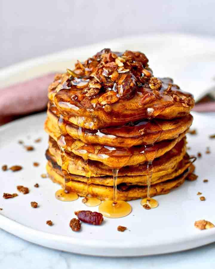 Harvest Pumpkin Crunch Pancakes