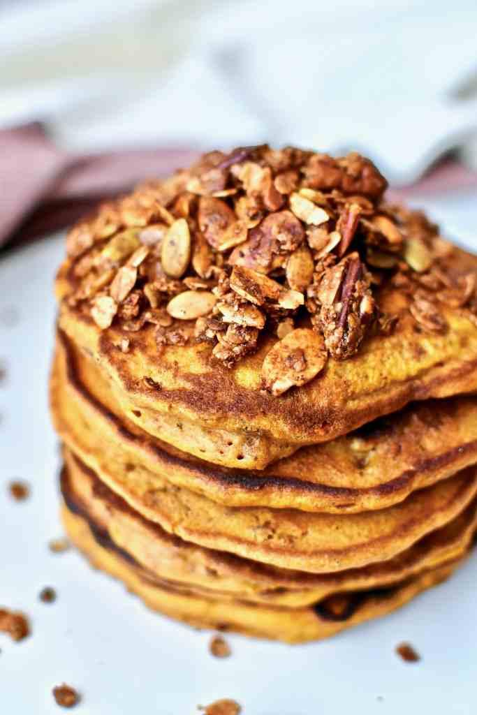 Pumpkin Crunch Pancakes