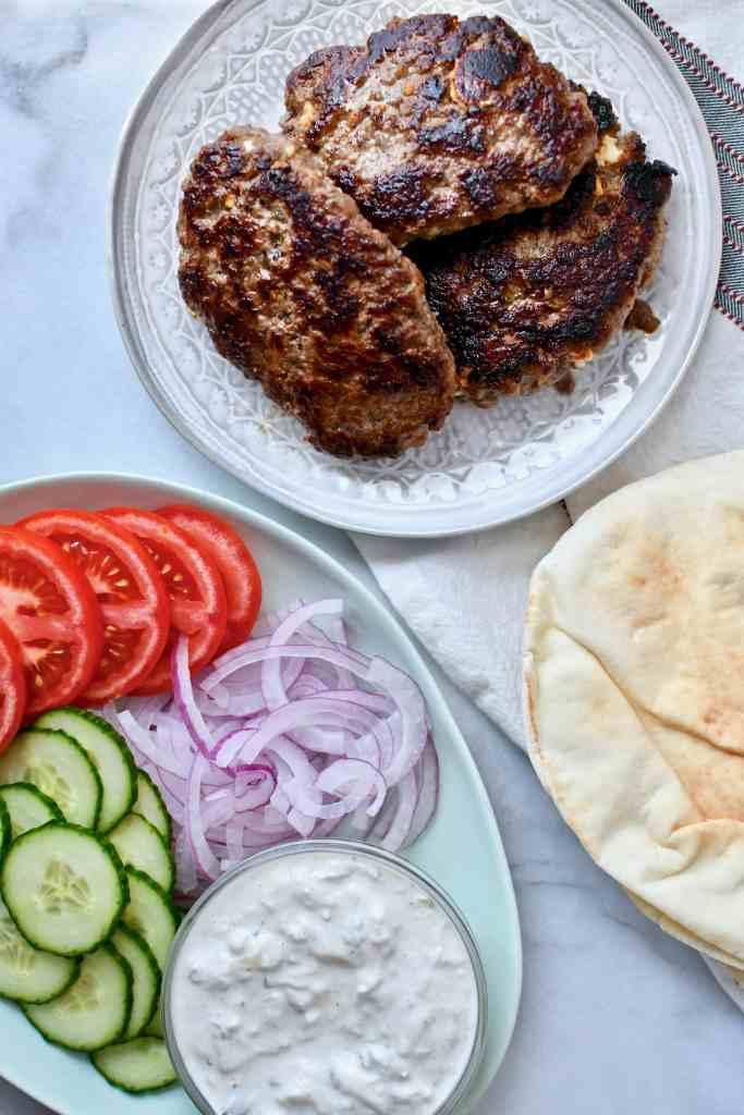 Greek Lamb Burger spread